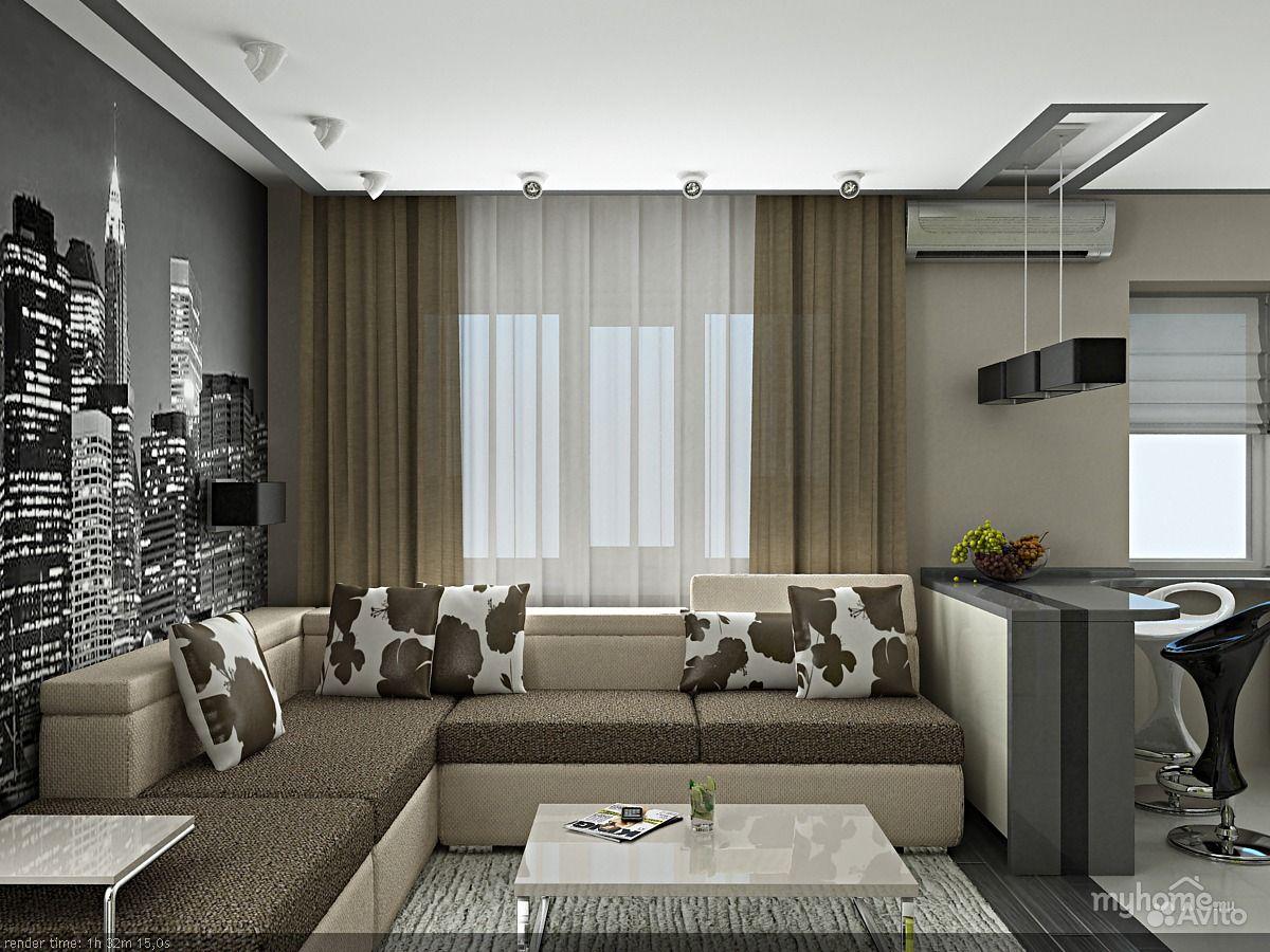 Идеи дизайна однокомнатной квартиры 30 кв.м
