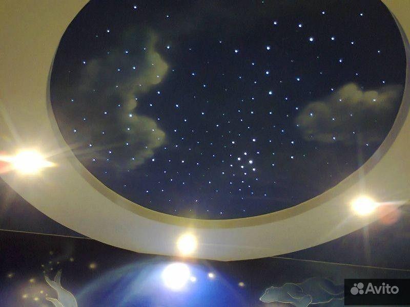 Натяжной потолок с фотопечатью в студию F 719.  Москва