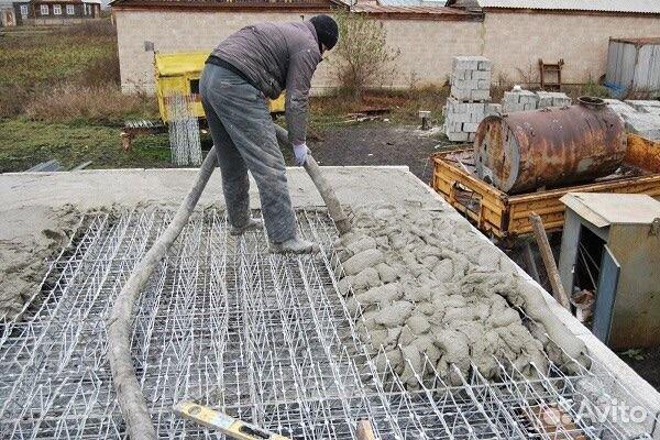Заливка плит перекрытия