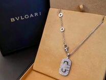 Bvlgari Parentesi золотая подвеска с бриллиантами