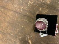 Кольцо рубин и бриллианты