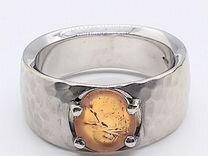 """Золотое мужское кольцо с """"Камеей"""""""