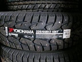 Новые шины Yokohama 225/65 R17 IG55 шипованные