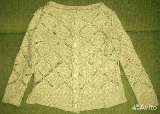 Белая вязаная кофта Zara свитер бадлон кардиган 565faf3bbf466