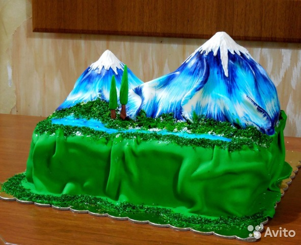 Фото торта снежная гора