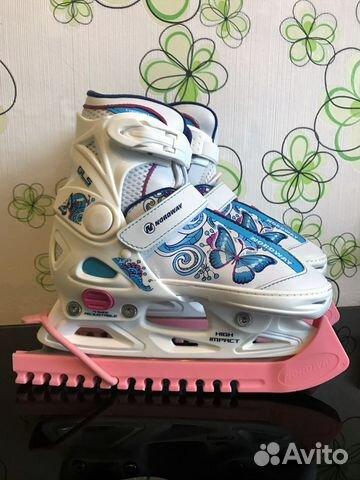Ледовые коньки раздвижные для девочек nordway