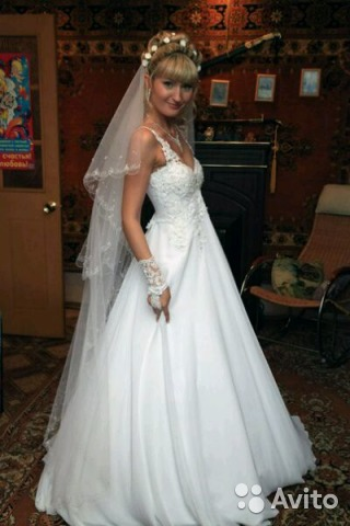 e5c37305f Свадебное платье, фата и перчатки в подарок | Festima.Ru ...