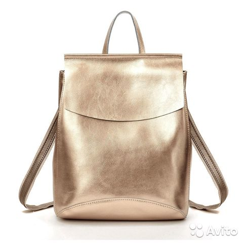 566bc6c39665 Рюкзак кожаный цвета золото | Festima.Ru - Мониторинг объявлений