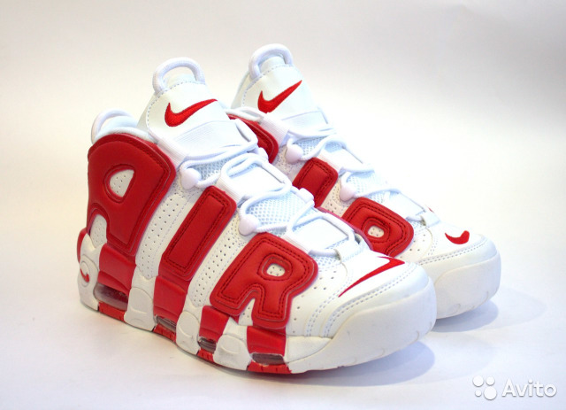 Кроссовки Nike Air More Uptempo Red White (42EUR) 3ea2bbff6b3