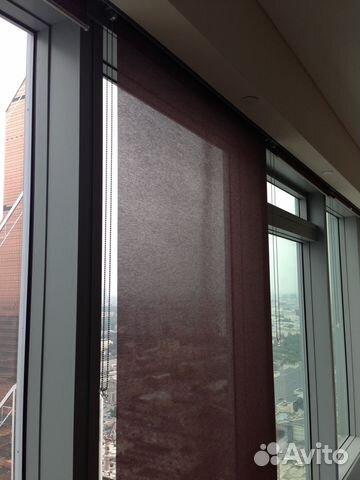 рулонные шторы на панорамные окна свободновисящие Festima