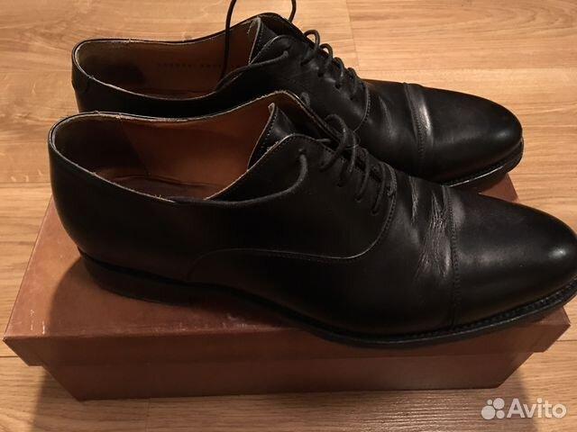 Мужские туфли Berwick оксфорды чёрные на кожаной п  96b30e277bf9a