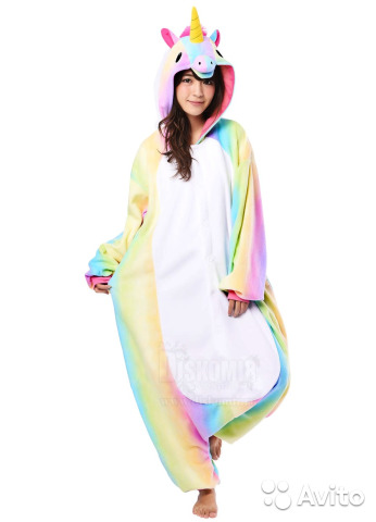Кигуруми Единорог Радужный   Kigurumi Rainbow Unic  05ae414c97c95