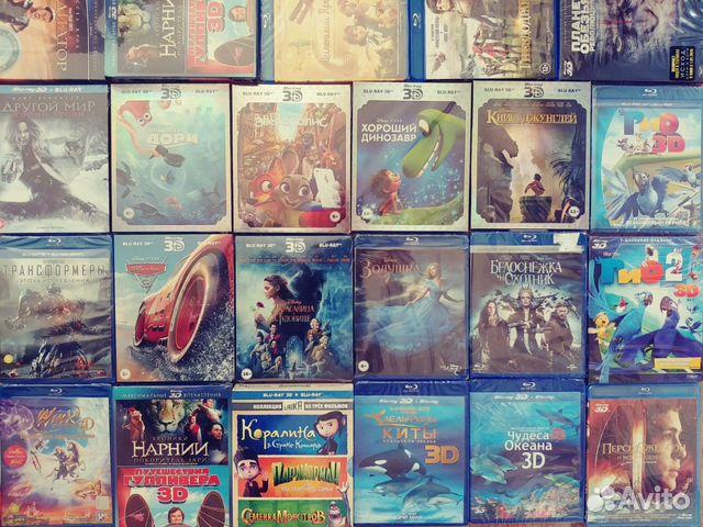 мульты фильмы Disney и другие Blu Ray 2d 3d лиценз купить в