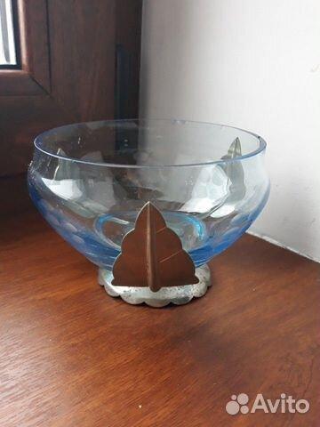 Декоративные вазы. стекло в металлическом обрамлен 89512657538 купить 3