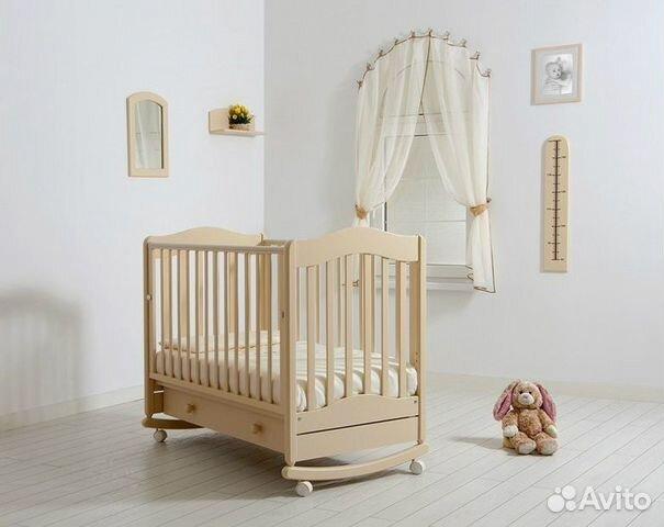 Новая кроватка Гандылян, из массива бука