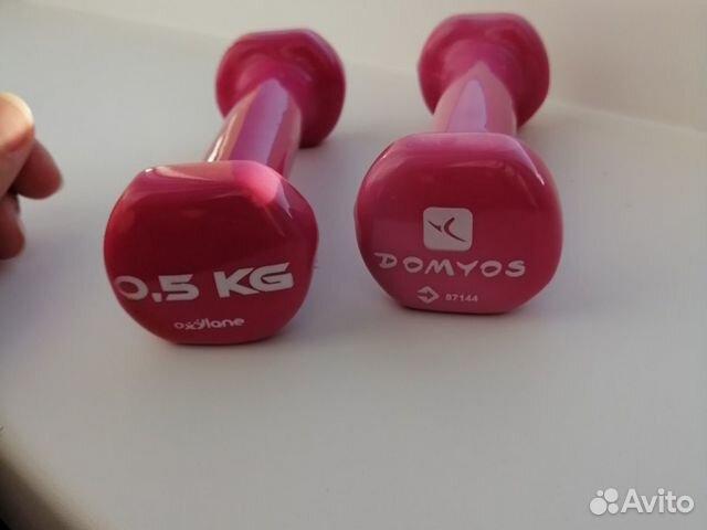 Гантели с неопреновым покрытием Domyos 0.5 кг  89090994402 купить 4