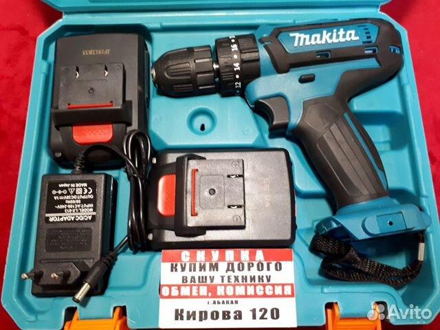89503079406  Шуруповерт Макита с Li-lon аккумуляторами (к120)