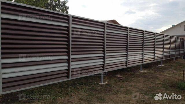 Металлический Забор-Жалюзи Grand-Steel арт.0003