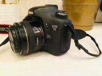 Фотоаппарат Canon 7D с объективом