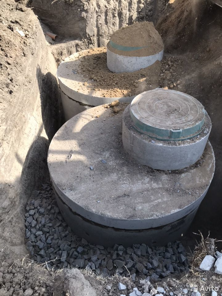 Септик из бетонных колец под ключ  89185315199 купить 1