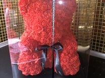 Мишка из роз в цветах нераспакованный