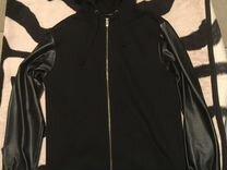 Толстовка с рукавами из кожзама — Одежда, обувь, аксессуары в Санкт-Петербурге