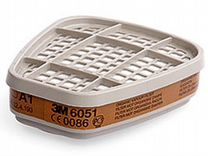 Полумаска 3М Р6200 с фильтрами 6051