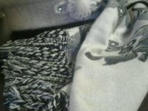 Берет серый + шарф