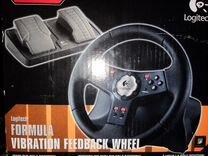 Игровой руль с педалями logitech