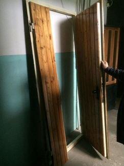 Дверь входная двухстворчатая металлическая