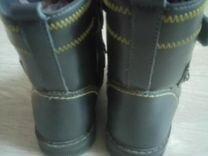 Тёплые кожаные сапоги на натуральном меху
