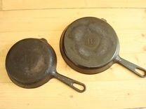 Чугунная сковорода, сковорода гриль СССР 4 шт
