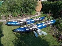 Катамаран для спортивного сплава, 4-х местный